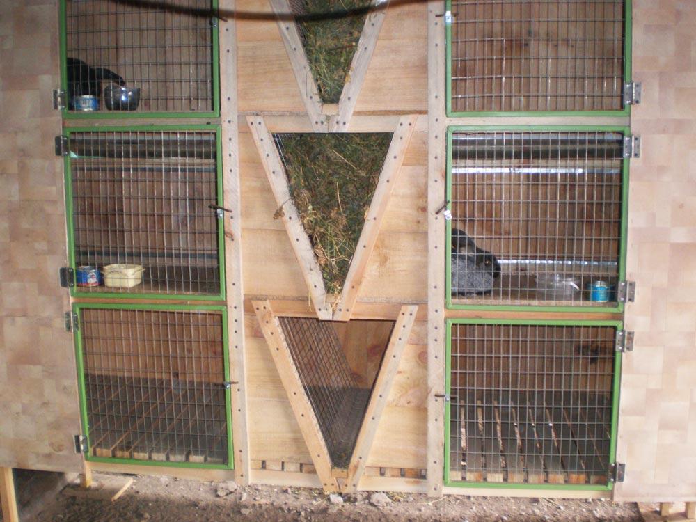 Съёмные полы в крольчатнике